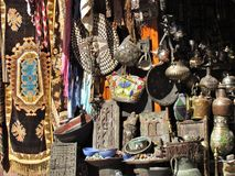 Winkel in den Stra?en des ld Medina in Marrakesch in Marokko lizenzfreie stockbilder