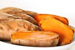 Winkel der süßen Kartoffeln Stockbild