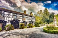 Winkel des Leistungshebels Newydd, Llangollen, Wales, Haus zu den Damen von Llangollen stockfoto