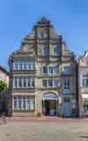 Winkel in een oud gebouw bij het marktvierkant van Stadthagen Royalty-vrije Stock Afbeeldingen