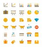 Winkel en Financiënpictogrammen Stock Foto's