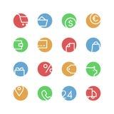 Winkel gekleurde pictogramreeks Royalty-vrije Stock Afbeelding
