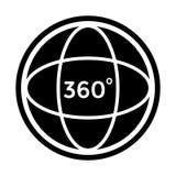Winkel 360 Grad Auch im corel abgehobenen Betrag stock abbildung