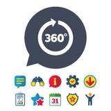 Winkel 360 Grad Zeichenikone Geometriemathesymbol lizenzfreie abbildung