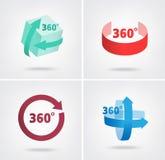 Winkel 360-Grad-Zeichenikonen vektor abbildung