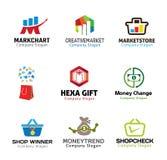 Winkel Marketing Objecten Ontwerp Royalty-vrije Stock Foto's
