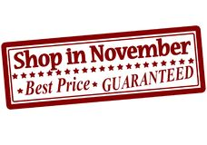 Winkel in November Royalty-vrije Stock Foto's