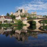 Winkel-sur-Anglin, Vienne, Frankreich Lizenzfreies Stockbild