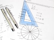 Winkel und Formel Lizenzfreie Stockbilder