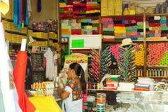 Winkel in Valladolid, Mexico stock foto