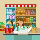 Winkel, verkoper van producten Stock Afbeeldingen