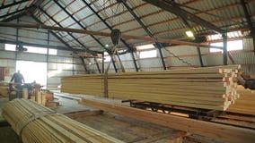 Winkel voor houtbewerkingstimmerhout stock video