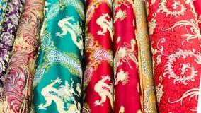 winkel voor kledingsmaterialen Stock Foto