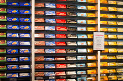 Winkelbinnenland van Cailler chocolaterie Royalty-vrije Stock Foto's