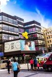 Winkelcentrum Kotva in het centrum van Praag royalty-vrije stock afbeelding