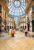 Winkelcentrum Milaan Stock Foto's