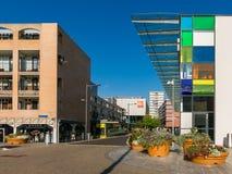 Winkelcomplex in almere-Stad in Nederland Royalty-vrije Stock Afbeeldingen