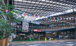 Winkelcomplex bij Kluaynamthai-Road, Bangkok Thailand, 16 December, 2017 Royalty-vrije Stock Afbeeldingen