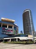 Winkelcomplex, hotels en residentials in Levent, Istanboel in Turkije Royalty-vrije Stock Afbeeldingen