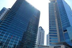 Winkelcomplex, hotels en residentials in Levent, Istanboel in Turkije Stad, bureau stock foto's