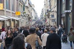 Winkelend in Bordeaux, Frankrijk Stock Foto