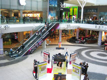 Winkelend centrum Stock Foto's