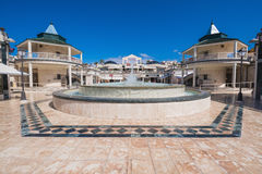 Winkelend centrum in Las Amerika op 23 Februari, 2016 in Adeje, Tenerife, Spanje Royalty-vrije Stock Foto