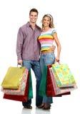 Winkelend liefdepaar Royalty-vrije Stock Foto's