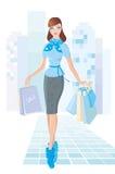 Winkelend meisje Stock Fotografie