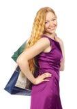Winkelend Meisje Stock Foto's