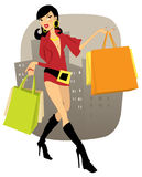 Winkelend meisje Royalty-vrije Stock Afbeelding