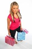 Winkelend Meisje Royalty-vrije Stock Fotografie