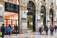 Winkelend in Milaan, Italië Stock Fotografie