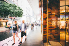 Winkelend op Verhoogde wegbaai in Hong Kong, China Royalty-vrije Stock Fotografie