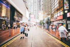 Winkelend op Verhoogde wegbaai in Hong Kong, China Royalty-vrije Stock Foto's