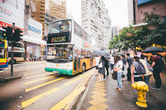 Winkelend op Verhoogde wegbaai in Hong Kong, China Stock Foto's