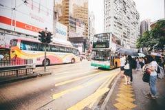 Winkelend op Verhoogde wegbaai in Hong Kong, China Royalty-vrije Stock Afbeelding