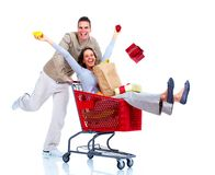 Winkelend paar. Royalty-vrije Stock Fotografie
