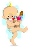 Winkelende baby Stock Foto