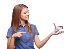 Winkelende conceptenvrouw Royalty-vrije Stock Afbeeldingen