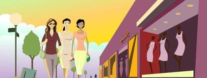Winkelende Dames Vector Illustratie
