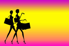 Winkelende dames Stock Afbeelding
