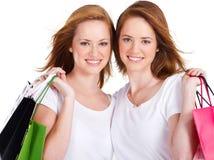 Winkelende meisjes Royalty-vrije Stock Foto