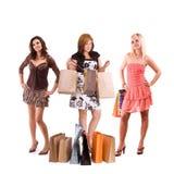 Winkelende meisjes Stock Fotografie