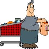 Winkelende mens Stock Foto