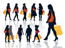Winkelende mensen vector illustratie