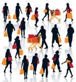 Winkelende mensen Royalty-vrije Stock Foto