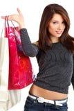 Winkelende sexy jonge vrouw royalty-vrije stock afbeelding