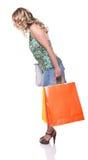 Winkelende vrouw Royalty-vrije Stock Afbeeldingen