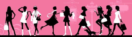 Winkelende vrouw. Stock Fotografie